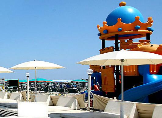 Cattolica, komfortní plážový servis