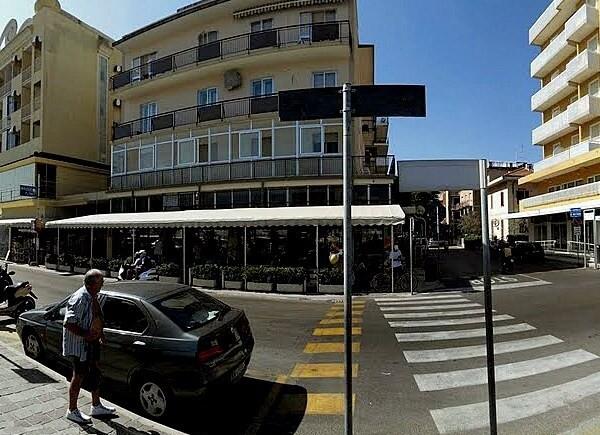 Rimini Viserba, promenáda u pláže