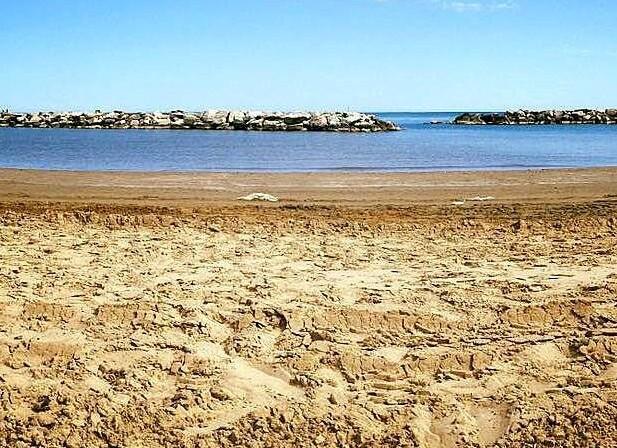 Rimini Viserba, písečná pláž
