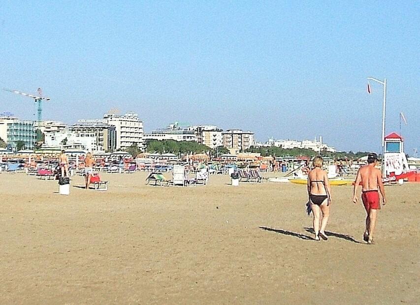 Rimini Marina Centro, široké pláže s pozvolným vstupem do moře