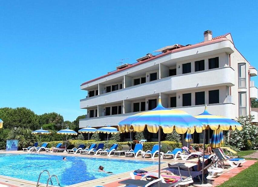 Residence přímo u pláže v Cavallino Lido