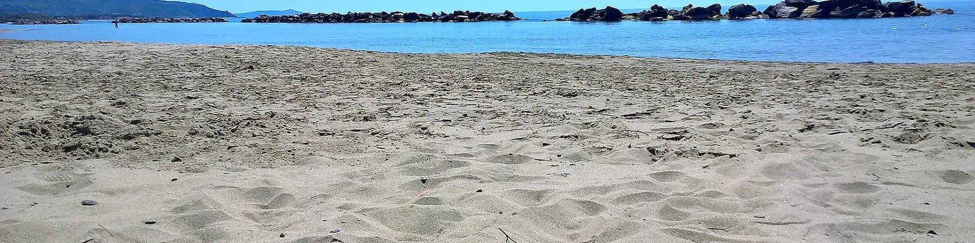 Marina di Casal Velino, typ pláže a písku