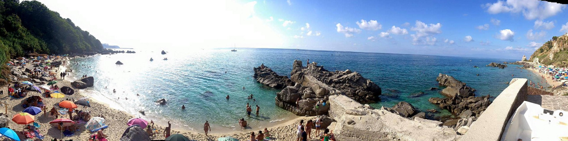 Parghelia, pláž Michelino