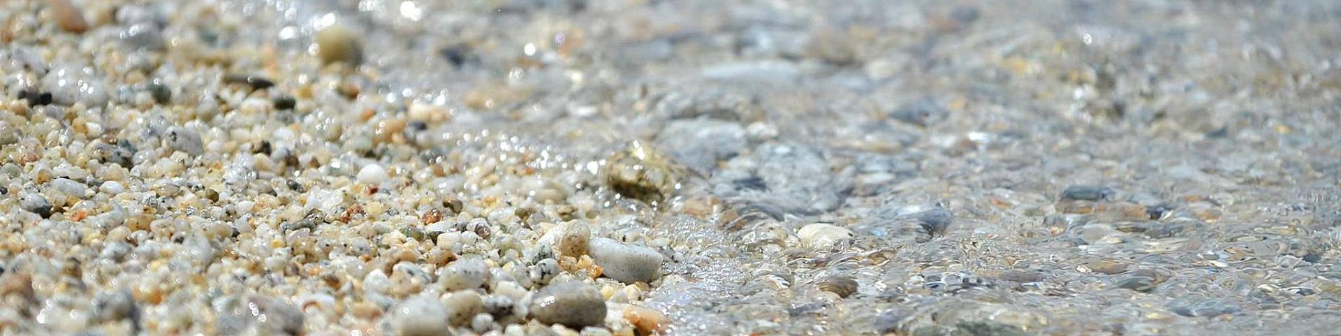 Parghelia, pláž Michelino, typ pláže a písku