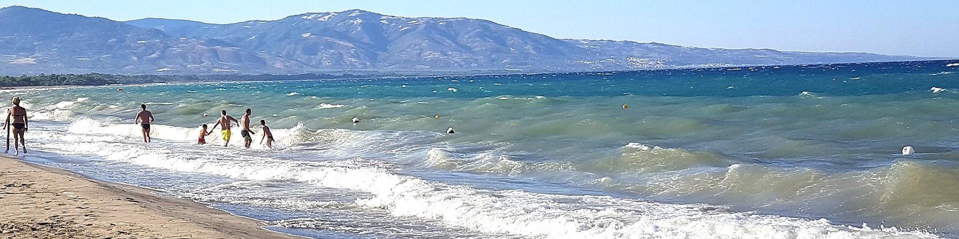 Marina di Sibari, vlny tu občas dokážou být velmi silné