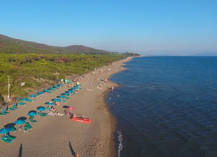 Camping Maremma San Souci pláž