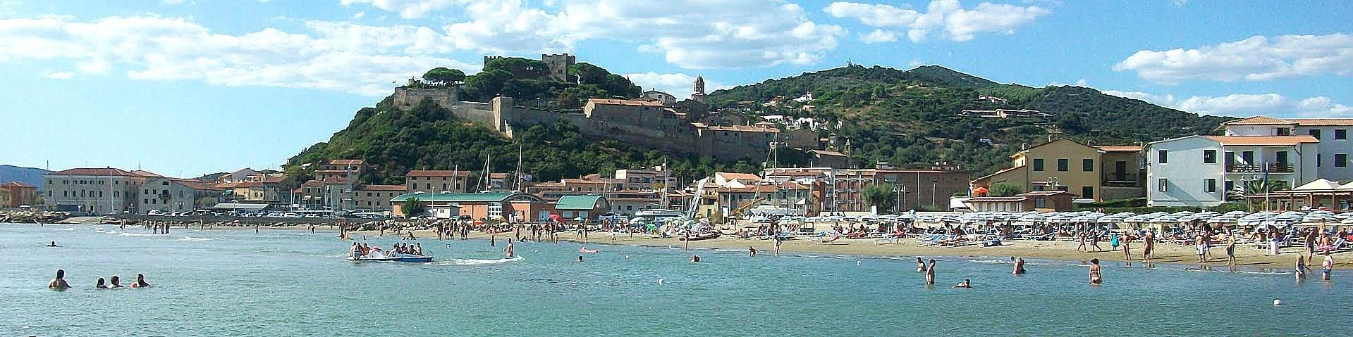 Castiglione della Pescaia, městská pláž