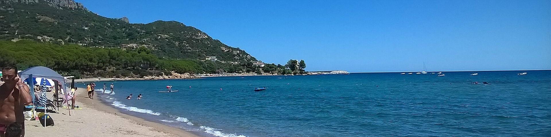 Santa Maria Navarrese, písčitá pláž Tancau Beach