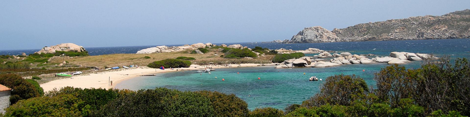 Capo Testa na severu Sardínie