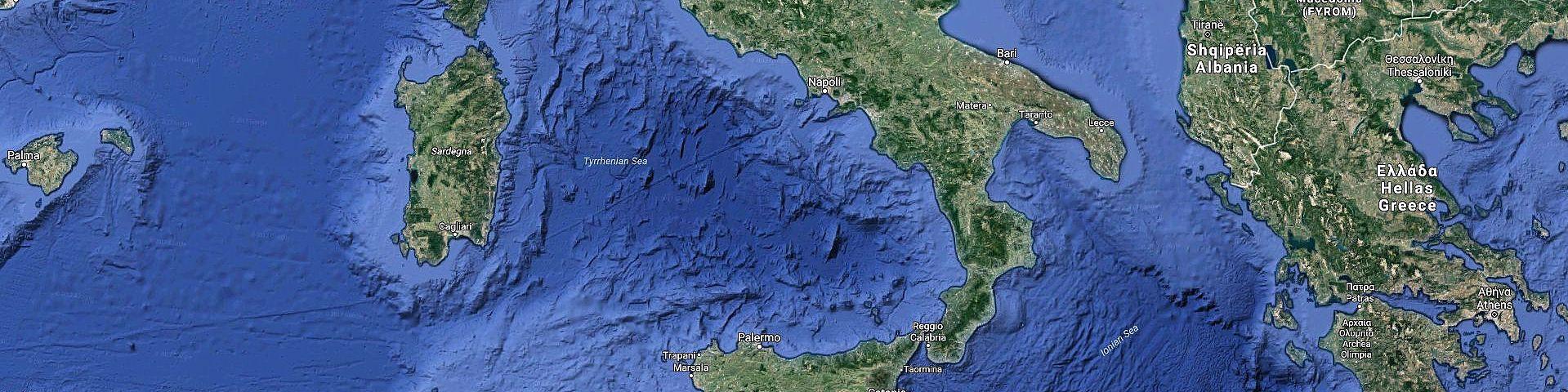 Jižní Itálie (zdroj: Google Maps)