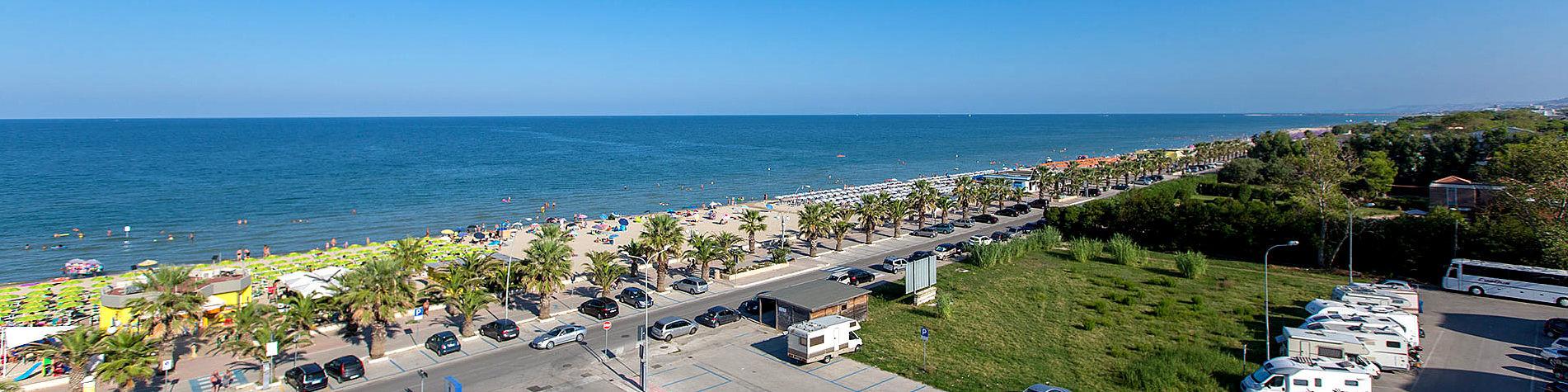 Tortoreto Lido, pláž na okraji letoviska