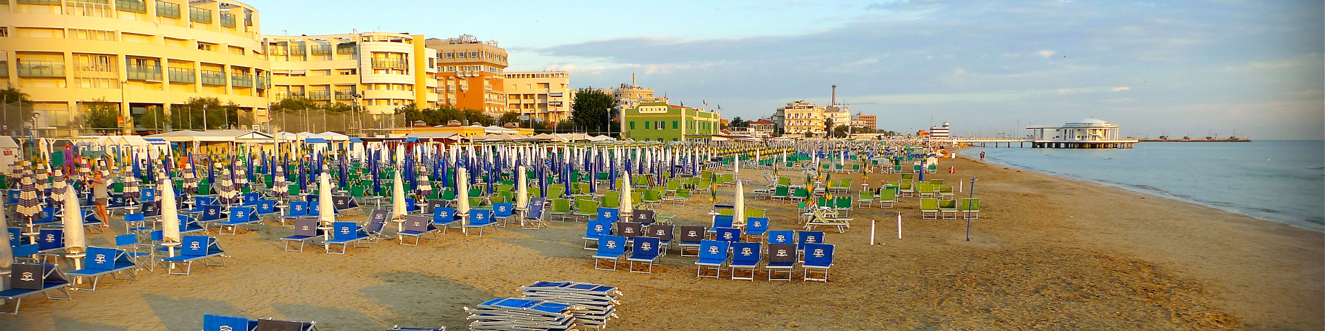Senigallia, vyhlášené molo na pláži