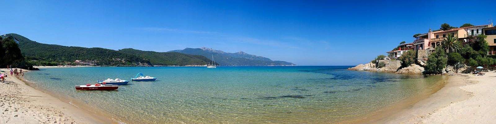 Záliv Biodola, pláž Scaglieri
