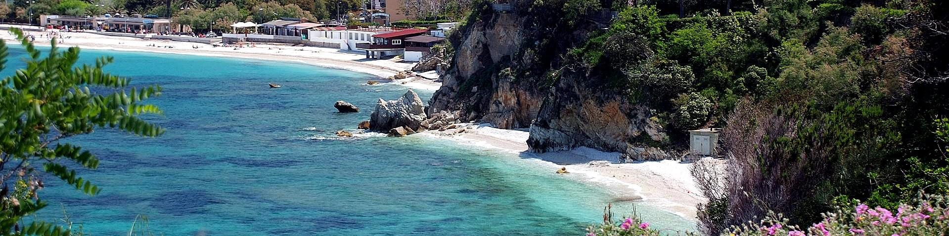 Portoferraio, městská pláž Cala dei Frati