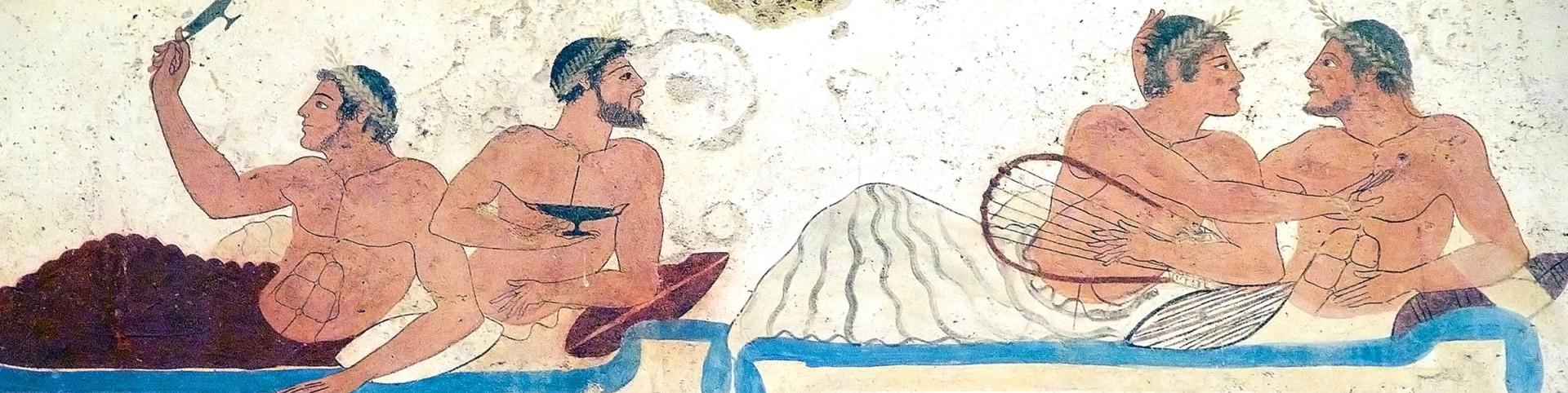 Paestum, malba na stěně nekropole