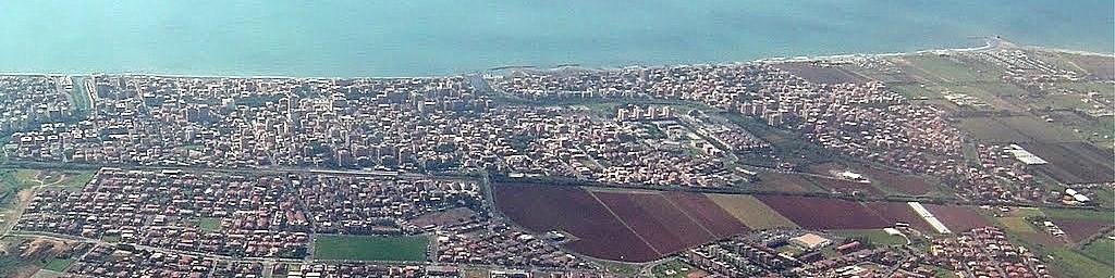 Ladispoli můžete vidět z letadla, když přistáváte v nedalekém Římě