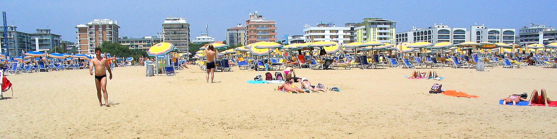 Bibione Spiaggia, pláže jsou tu velmi prostorné