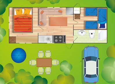 mobilhome typ F - Camping Sabbiadoro