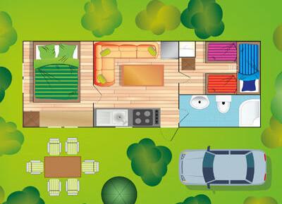 mobilhome typ F Plus - Camping Sabbiadoro