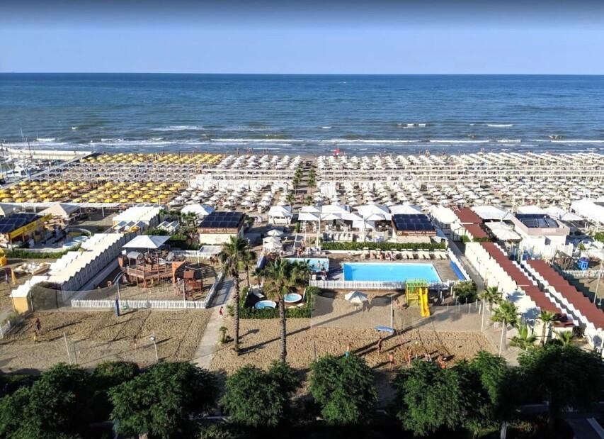 hotelová pláž Le Palme