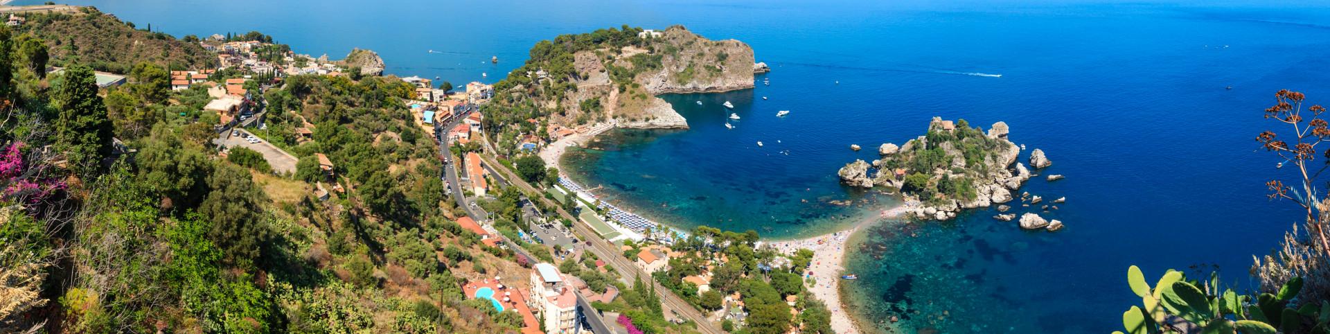 Taormina a ostrůvek Isola Bella