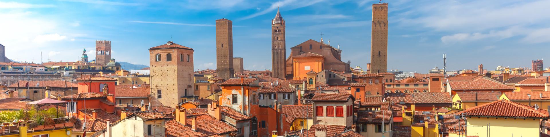 Bologna a její věže - torri