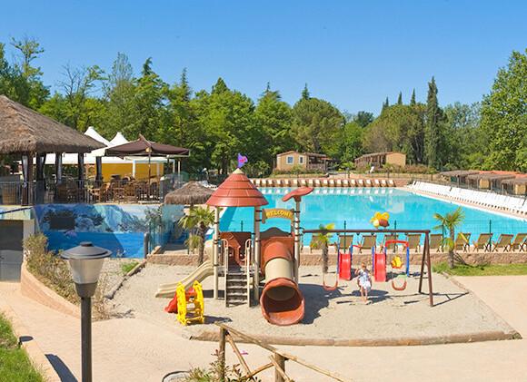 Hotel La Diga** - bazén a dětské hřiště v Altomincio Family