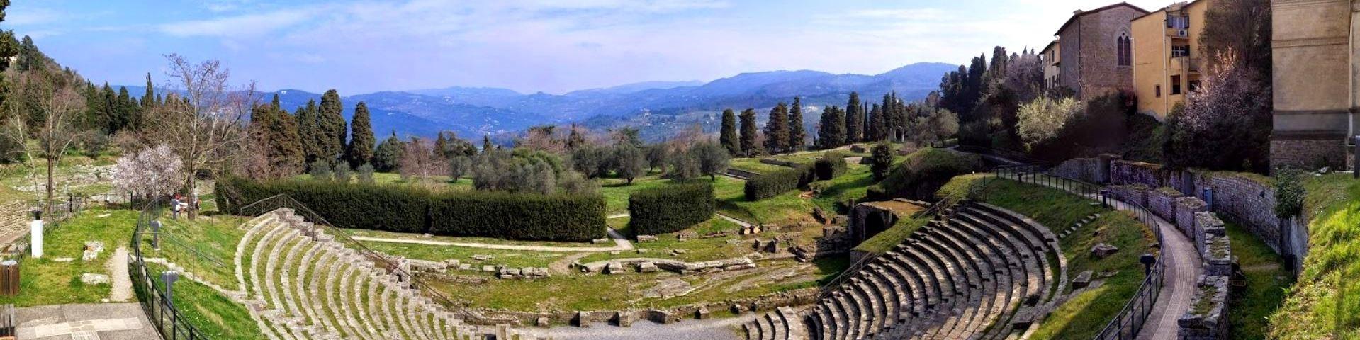 Fiesole, pozůstatky amfiteátru Teatro Romano