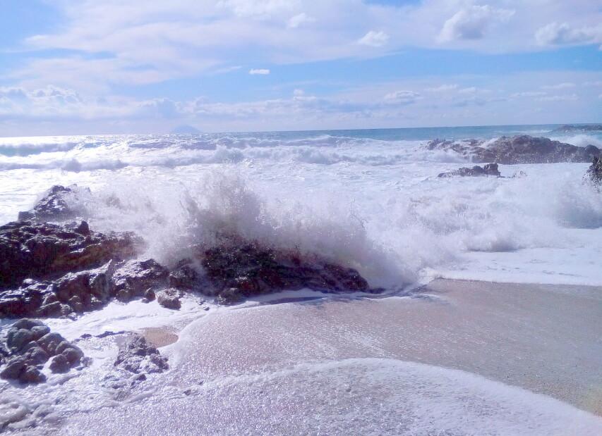 pláž pod residencí